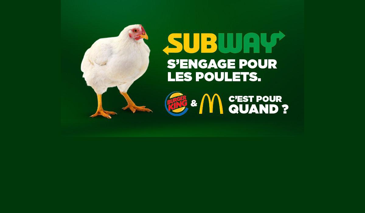 Subway prend un premier engagement pour les poulets en Europe